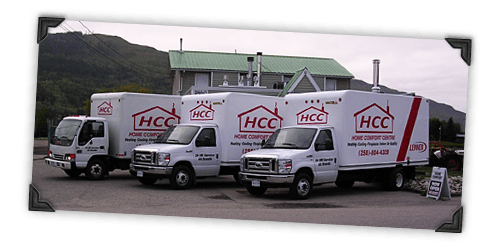 Salmon Arm Home Comfort Centre Delivery Trucks